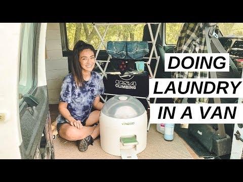 VAN LIFE: Doing Laundry Inside My Van   Yirego Drumi Test