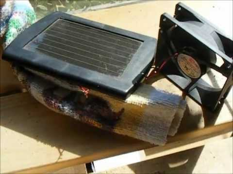 DIY a Cheap Easy Solar Fan for the Greenhouse