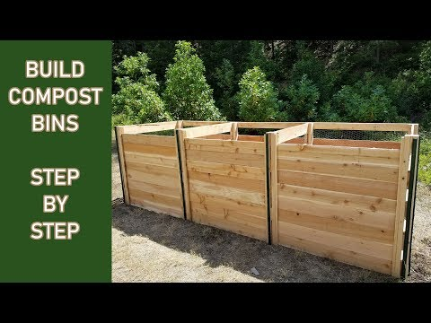 Build a 3 Bay Compost Bin STEP by STEP