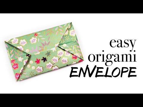 Easy Origami Envelope Tutorial - DIY - Paper Kawaii