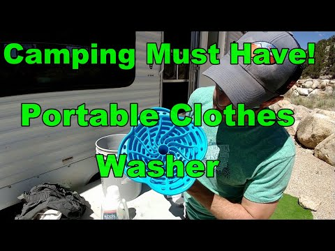 Cheap Portable Clothes Washer - Camping Must Have!