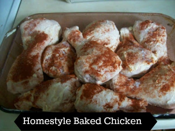 homestyle baked chicken-moist and flavorful meat with crispy skin