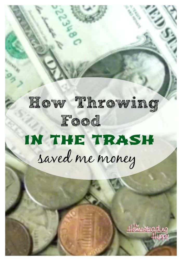 throwing food in the trash saved me money
