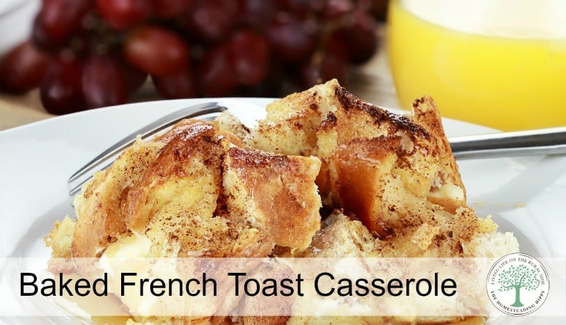 Sweet, Creamy Overnight French Toast Casserole