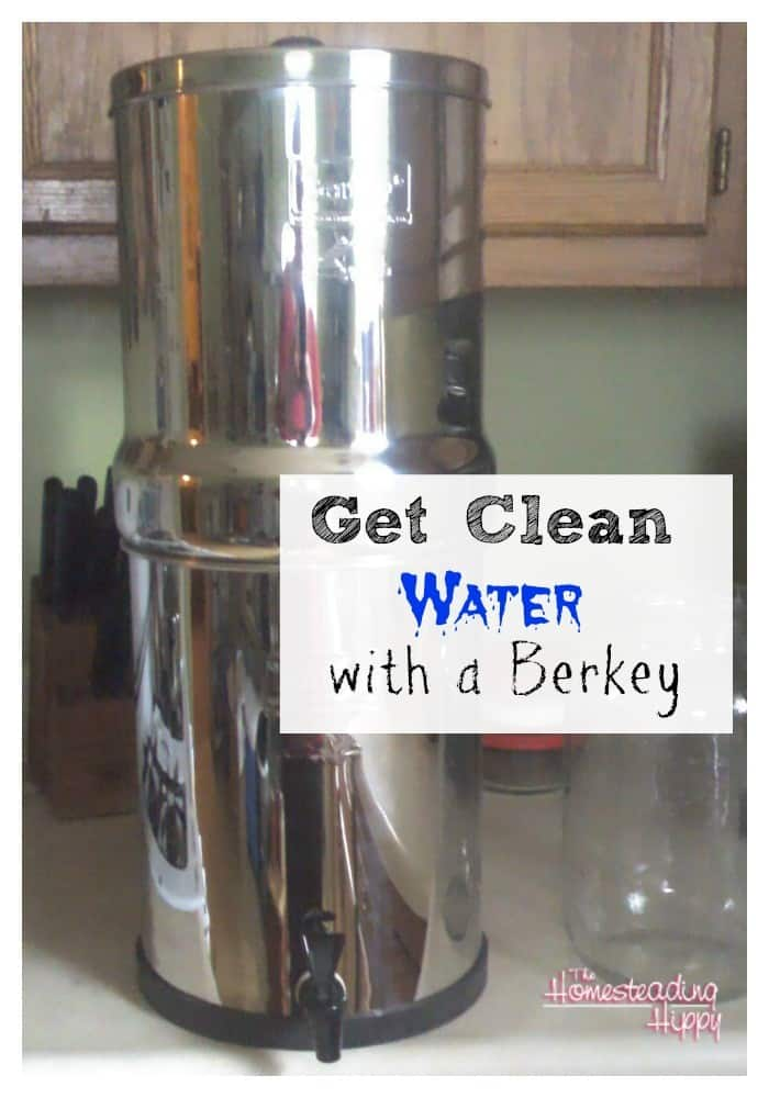 get clean water with a berkey~The Homesteading Hippy
