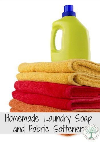 Make your own laundry soap and fabric softener and save money! The Homesteading Hippy #homesteadhippy #romthefarm #diy
