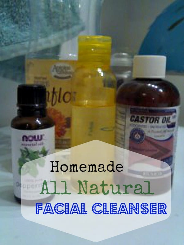 all natural facial cleanser, chemical free facial cleanser