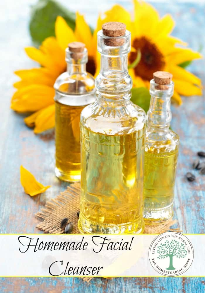 Homemade facial cleanser for soft, smooth, supple skin! The Homesteading Hippy #homesteadhippy #fromthefarm #essentialoils
