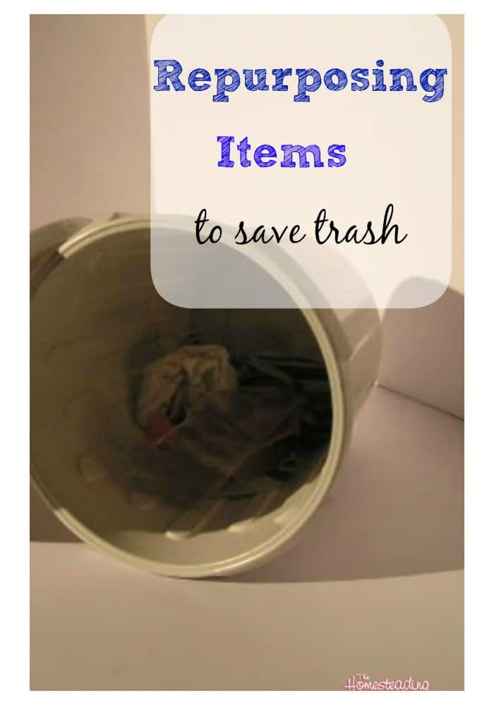 re purposing items to save trash