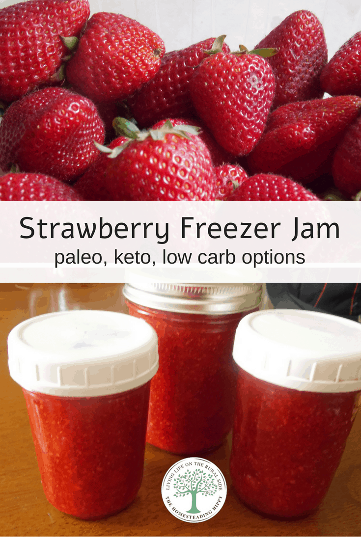 When strawberries are in season, this strawberry freezer jam is a MUST make! Super simple and so tasty!