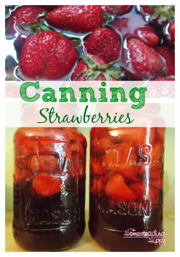 how to can strawberries