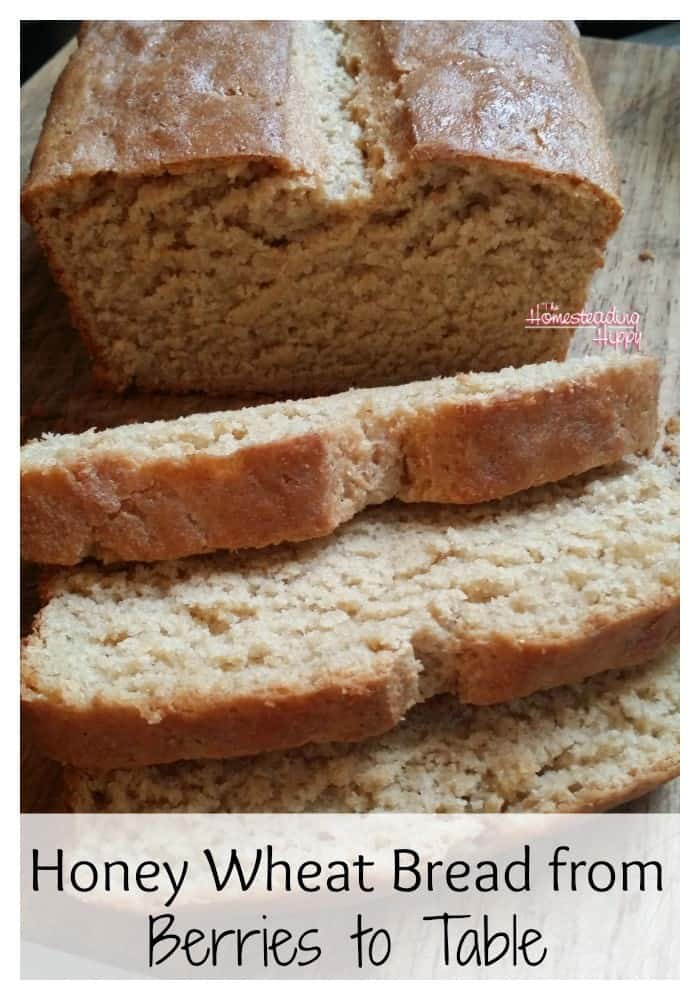 Honey Whole Wheat Bread Recipe From Fresh Milled Berries