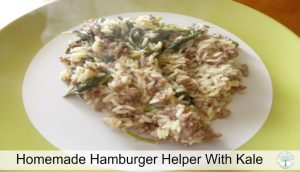 Kale Hamburger Helper
