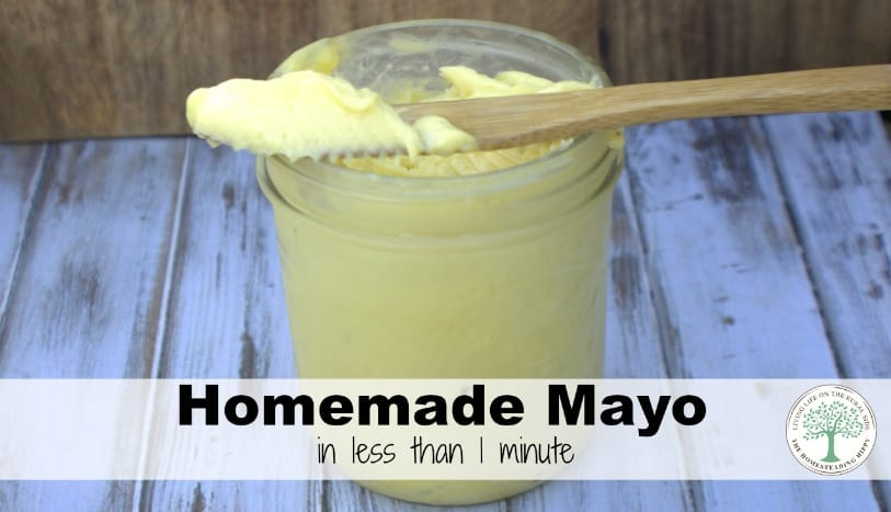 This healthy homemade mayo is perfect for salads, dressings as well as sandwich spread. Get the easy DIY directions here! The Homesteading Hippy
