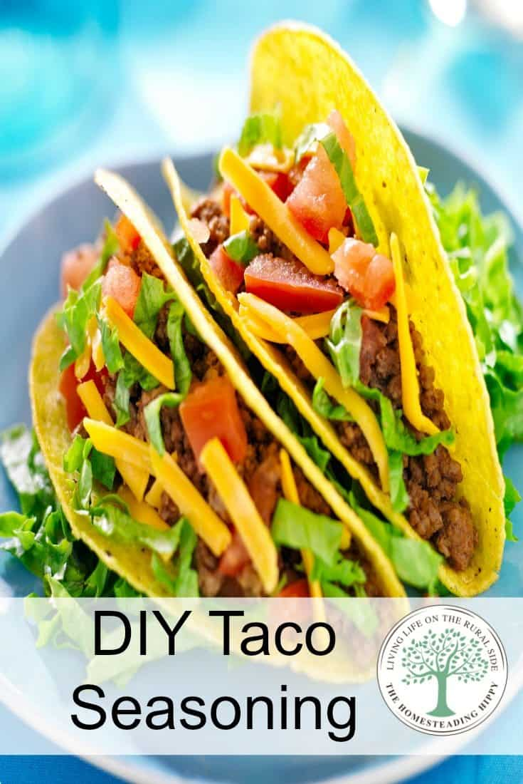 One of the easiest seasoning blends for anyone to make...diy taco seasoning. So yummy and versatile!  It's not just for tacos! The Homesteading Hippy