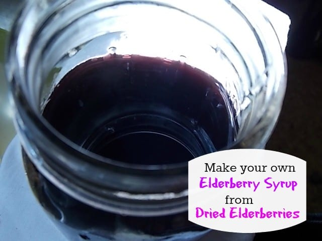 how to make elderberry syrup from dried elderberries, deal with cold and flu symptoms naturally