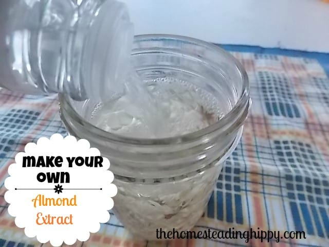 make your own almond extract for holiday baking