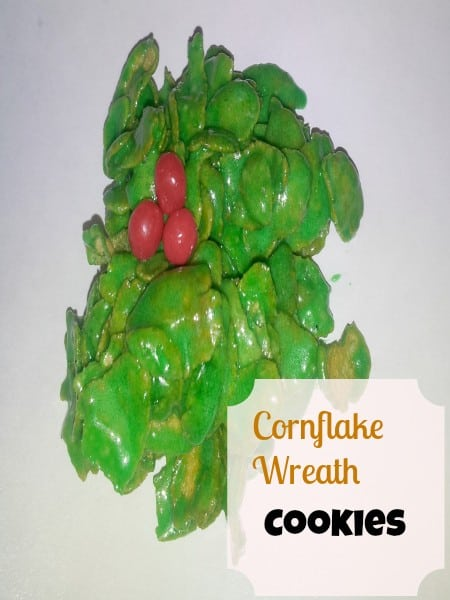 cornflake wreath cookies