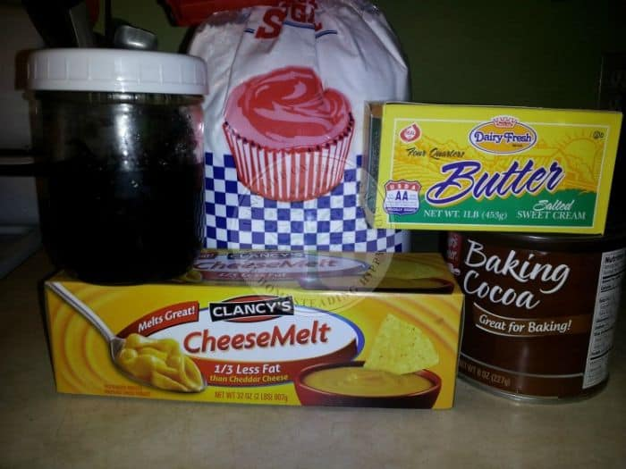 ingredients for velveeta cheese fudge