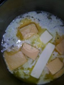 melting butter and cheese
