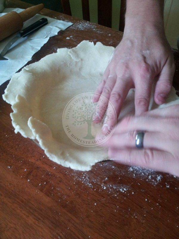step 4 shape into pie pan