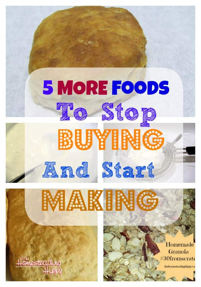 foods to stop buying and start making