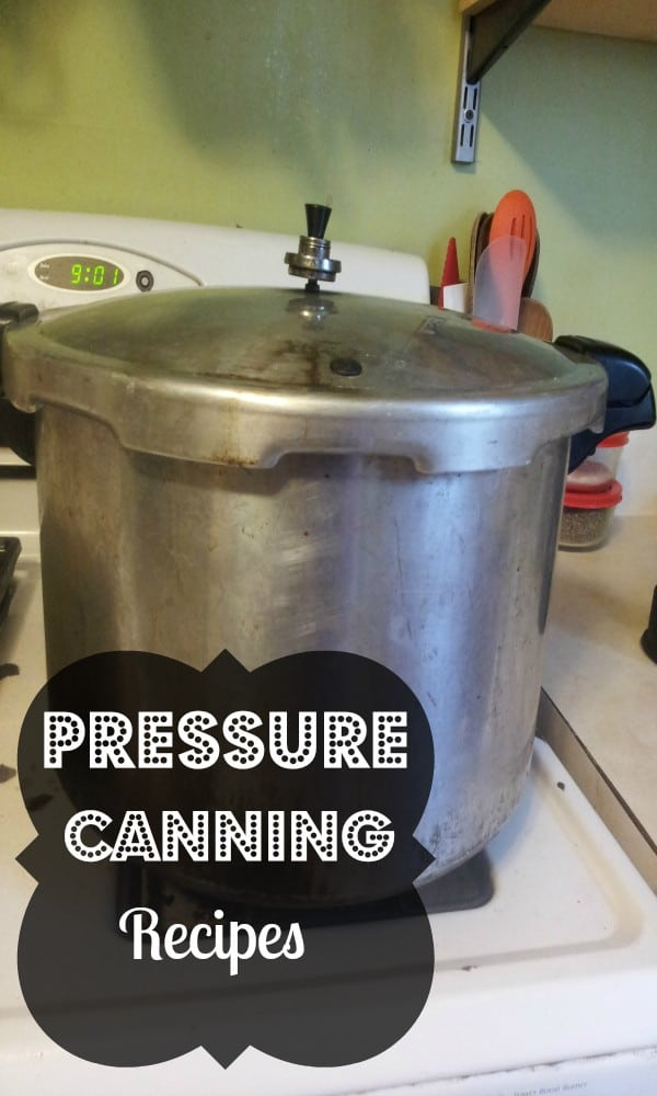 recipes for canning with your pressure canner