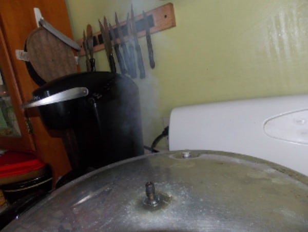 vent the steam in a pressure canner