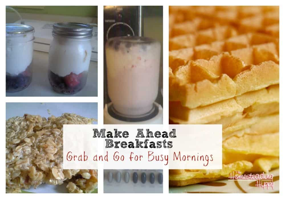 make ahead breakfasts to go.  Grab and Go for those busy mornings! The HomesteadingHippy