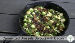 Loaded with healthy fats and nutrients, these carmelized brussels sprouts with bacon are a perfect dish for any meal! The Homesteading Hippy