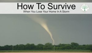 How to be prepared if you lose your home in a tornado or hurricane. Plan NOW and stay safe! The Homesteading Hippy