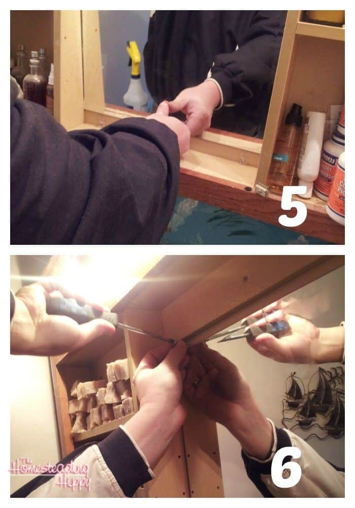 placing the mirror steps 5 and 6
