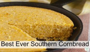 Delicious and slightly tangy sweet, this southern cornbread won over my hubby. Get the recipe and see why for yourself! The Homesteading Hippy