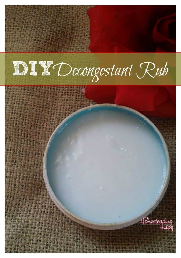 diy decongestant rub