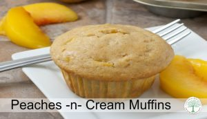 Peaches -n- Cream Muffins