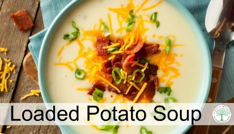 Creamy, filling, and so comforting! You need to try this loaded potato soup tonight! The Homesteading Hippy