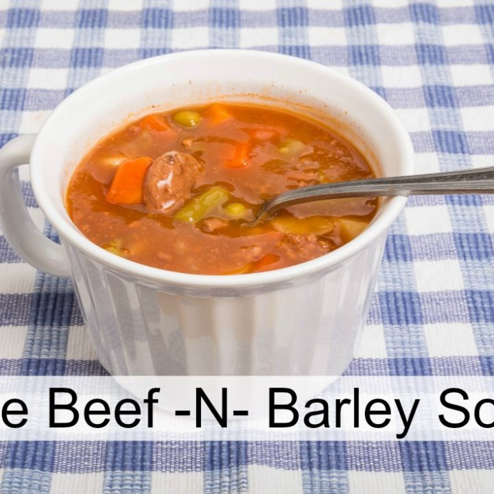Homemade Vegetable Beef  Barley Soup