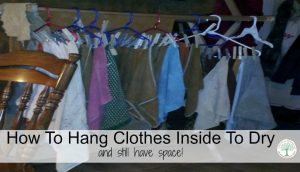 How To Hang Up Clothes Inside To Dry