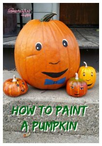 painting a pumpkin pin