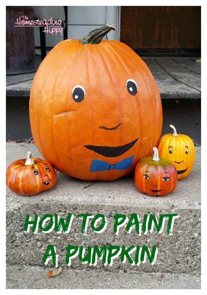 How To Paint Pumpkins The Homesteading Hippy - How to paint a pumpkin