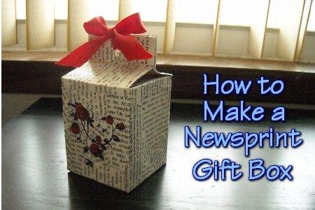 Newsprint Gift Box