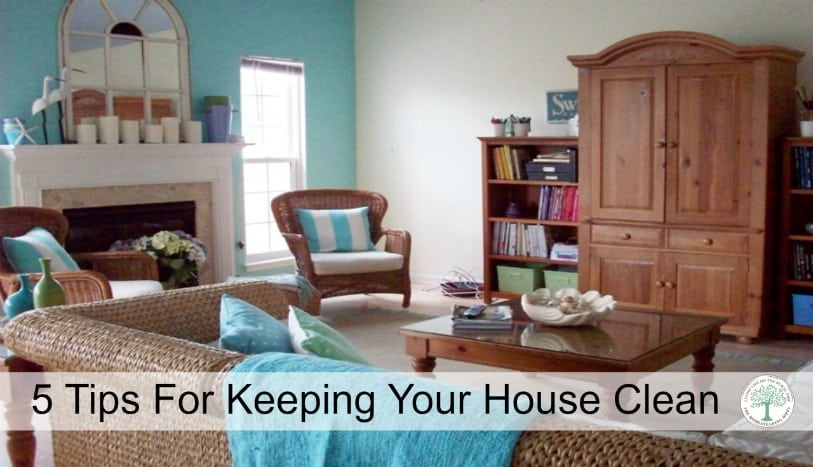 Keep your house company ready at all times These are my 5 easy tips to keeping your house clean.