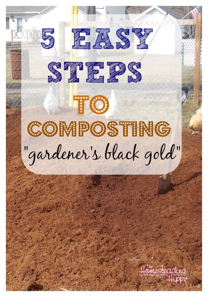 five easy steps to composting