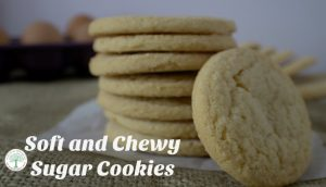 Soft Chewy Sugar Cookies {with LESS sugar}