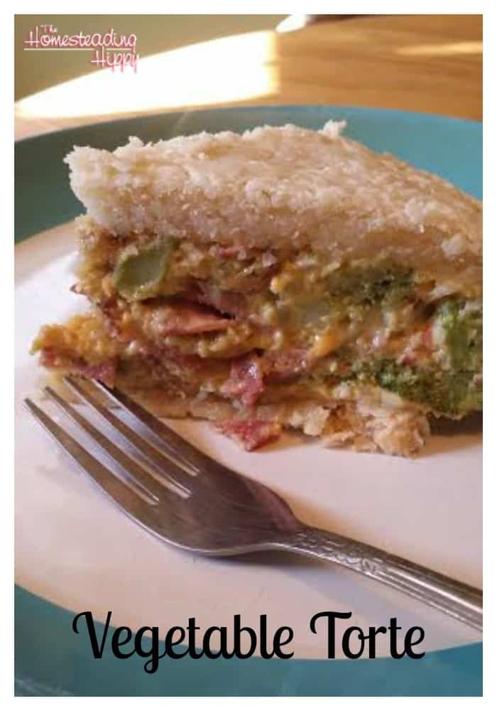 how to make a vegetable torte~The Homesteading Hippy