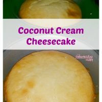 Coconut Butter Mini Cheesecakes