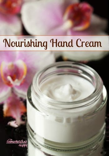 Keep your hands soft and smooth in any weather with this skin nourishing hand cream. The Homesteading Hippy #homesteadhippy #fromthefarm #diy #skincream #essentailoils