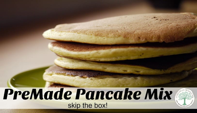 Premade pancake mix skip the box and make your own pancake mix for your pantry shelf the homesteadinghippy ccuart