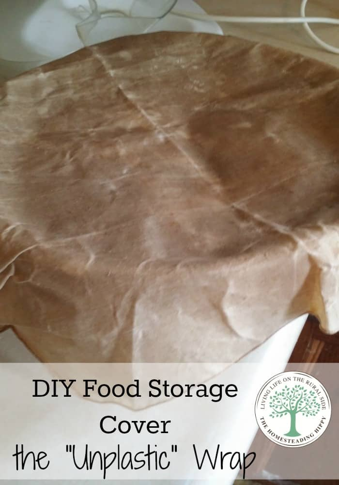 Make your own food wraps for foods and containers in minutes!  Easy to make and use! The Homesteading Hippy #homesteadhippy #fromthefarm #diy #lesstrash