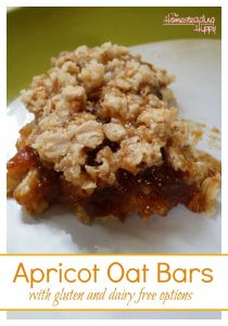 Gluten Free Dairy Free Apricot Oat Bars